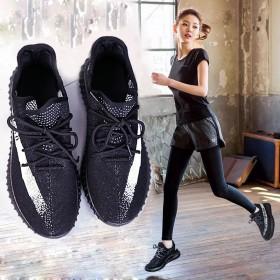 2017新款健身房软底运动鞋女夏透气系带学生椰子鞋