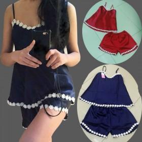 丝质睡衣女夏公主风吊带两件套装