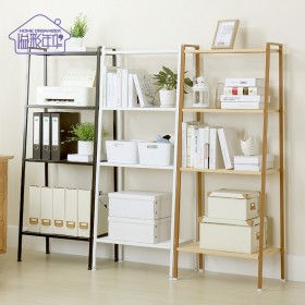 四层置物架 客厅收纳书架落地式宜家风格整理架