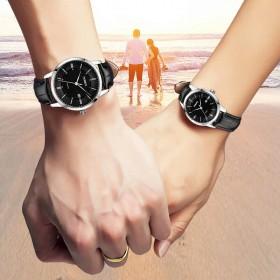 【联保】劳士顿手表50米防水钢带皮带手表情侣手表