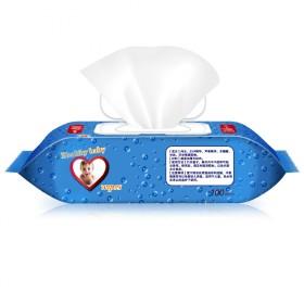 湿巾婴儿6包100抽儿童宝宝湿巾纸带盖手口无香湿纸