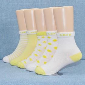 5双装  夏季薄款儿童网眼透气袜子