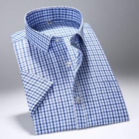 百搭格子短袖衬衫