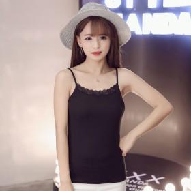 女装夏季韩外穿蕾丝吊带背心拉架棉修身均码纯色背心