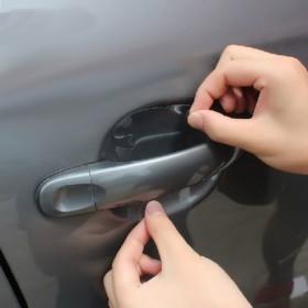 犀牛皮汽车门把手保护膜 拉手贴膜4片装通用车门把手