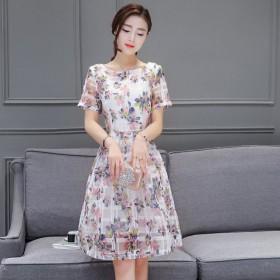 2017夏装女装中长款公主裙女时尚小清新连衣裙