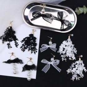 韩国超仙蕾丝耳环