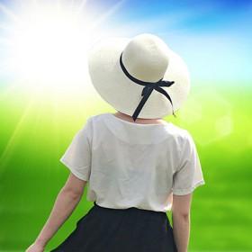 遮阳帽防晒女夏季太阳帽韩版时尚沙滩帽可折叠编织帽子