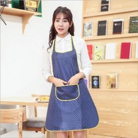夏季 加厚围裙PVC居家厨房防水无袖围裙