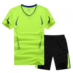 加肥加大码夏季短袖短裤套装男士运动服跑步速干透气