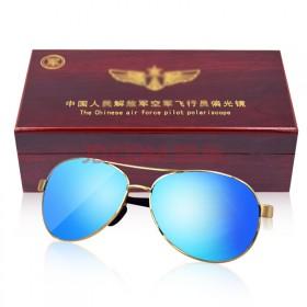 中国空军眼镜飞行员墨镜偏光镜 镀膜八一太阳镜男款