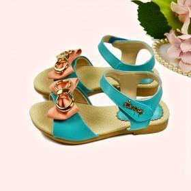 史努比品牌小女孩凉鞋蝴蝶结夏季公主鞋