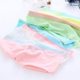 4条装 冰丝无痕一片式女士性感内裤