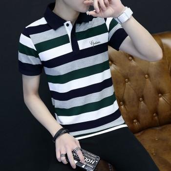 自有品牌t恤男短袖青年上衣夏季薄款POLO衫