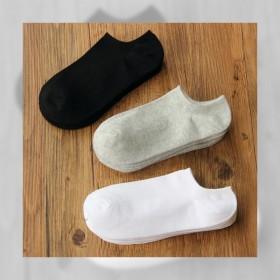 袜子男短袜夏季袜纯棉船袜男 夏季浅口袜男吸汗防臭低