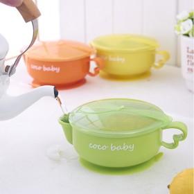 新款韩式儿童不锈钢注水保温碗 吸盘碗宝宝餐具不锈钢