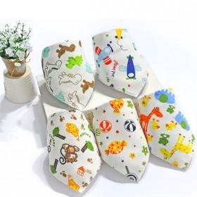 5条装婴儿口水巾宝宝三角巾纯棉新生儿围嘴兜