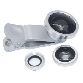 手机镜头微距鱼眼广角三合一扩大拍摄范围非增加清晰度