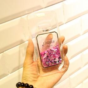 奢华iphone6/7系列液体流沙来电闪手机壳