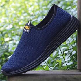 男士低帮透气帆布鞋日常休闲鞋套脚软底布鞋百搭男鞋