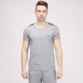 夏季薄款男士运动套装休闲运动服跑步男式运动衣中老年