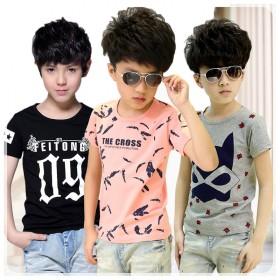 童装男童短袖印花T恤2017夏季新款儿童圆领打底衫