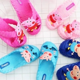 女童男童小孩宝宝浴室居防滑小猪佩琪可爱凉拖