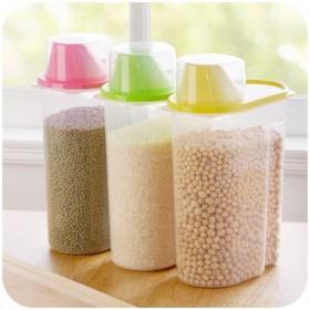 3个装 大号2.5L塑料密封罐食品储物罐
