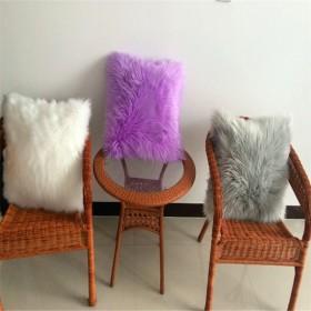 多色可选可定做大号沙发抱枕仿羊毛抱枕 靠垫
