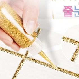 自流平美缝剂瓷砖地砖专用金色双组份瓷流平陶瓷胶防水