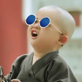 儿童炫彩复古墨镜