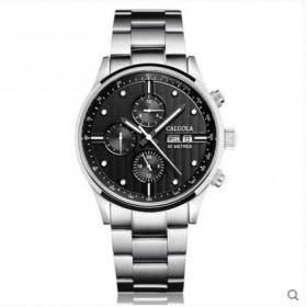 卡罗莱全自动机械表男表黑色精钢带手表男士手表机械表