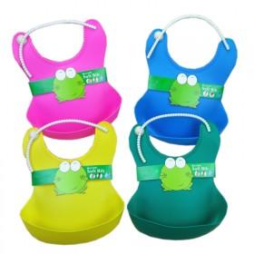 婴儿饭兜防水硅胶宝宝围兜儿童立体饭兜围嘴