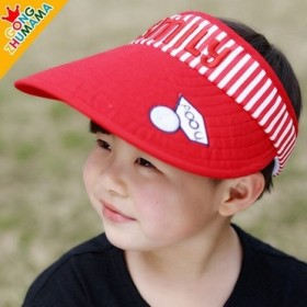 韩版儿童空顶帽男女宝宝字母刺绣遮阳帽防晒帽子纯棉可