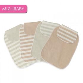 4条装婴幼儿天然彩棉吸汗巾宝宝春夏单层有机棉隔汗巾