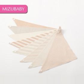 宝宝双层天然彩棉按扣三角巾 婴幼儿有机棉口水巾宝宝