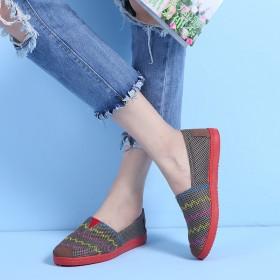 老北京布鞋镂空网面鞋圆头平底休闲运动鞋女网鞋