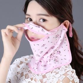 护颈冰丝小花口罩