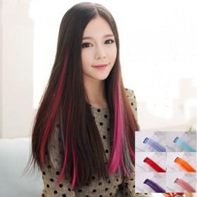 假发女彩色假发片挑染一片式接发片渐变色隐形无痕彩发
