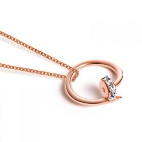 日韩版时尚镀18K玫瑰金颈链女简约锁骨链钛钢装饰品