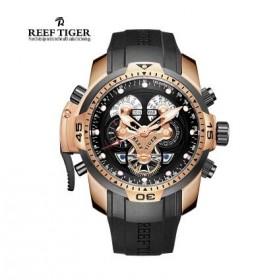 瑞夫泰格防水男表机械表镂空大表盘强夜光个性男士手表