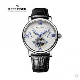 瑞夫泰格手表男士手表机械表陀飞轮皮带时尚潮流男表