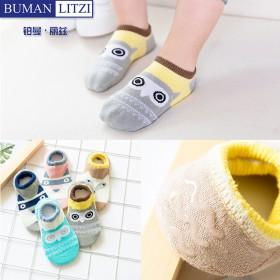 儿童袜子纯棉船袜夏季薄款隐形短袜男女童宝宝袜5双装