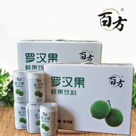 南宁百方罗汉果无糖饮料310ml(12罐/箱)