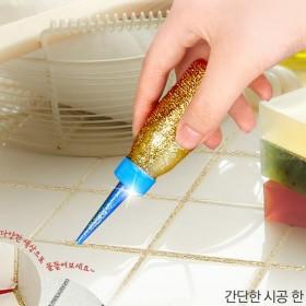美缝剂瓷砖地砖专用金色双组份瓷流平陶瓷胶防水填缝剂