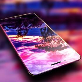 苹果6代4.7钢化膜紫光丝印全屏iPhone7P