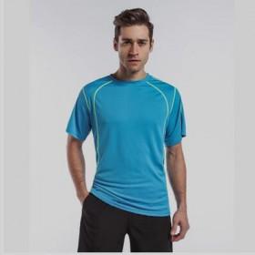 户外男女速干衣短袖拼色透气登山跑步衫运动快干短袖T