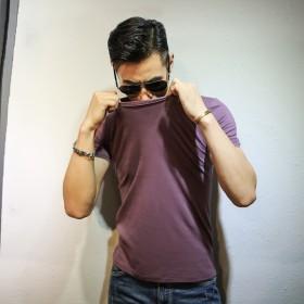 夏季圆领竹节棉短袖T恤 天猫