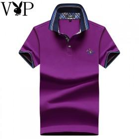 花花公子高品质丝光棉短袖T恤男穿一辈子的衣服好质量