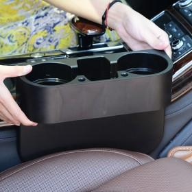 汽车座椅缝隙置物盒 车载水杯架饮料架子 (拍塑料款